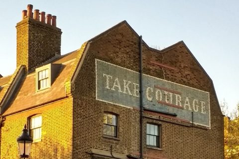 Take Courage ghost sign